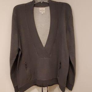 Dark gray heathered pullover shirt